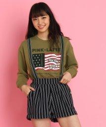 PINK-latte/星条旗ロゴプリント裏毛トレーナー/500029991