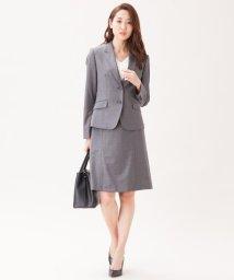 NIJYUSANKU/【スーツ】ファインネスウール フレアスカート/500033665