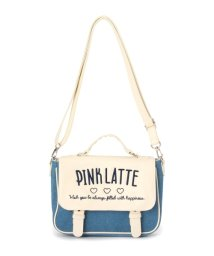PINK-latte/2WAYロゴフラップショルダーバッグ/500037047