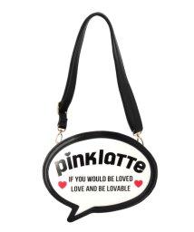 PINK-latte/ロゴふきだしショルダーバッグ/500037048