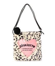 PINK-latte/アニマルファー&ハートショルダーバッグ/500037049