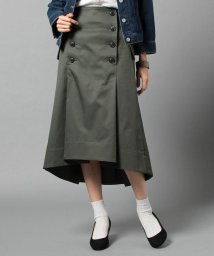beautiful people/ultimate pima twill trench tuck skirt/500034764