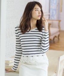MISCH MASCH/裾刺繍クロップド丈ニット/500033102