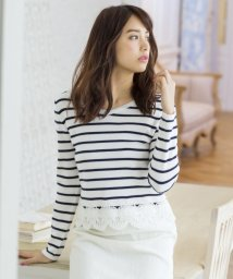 MISCH MASCH/【Ray 3月号掲載】裾刺繍クロップ丈ニット/500033102