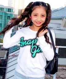 ANAP GiRL/筆記体ロゴロングTシャツ/500041167