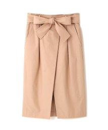 Pinky&Dianne/ヴェルダムシャンブレーリボンベルト付きラップ風スカート/500051540