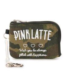 PINK-latte/ロゴ刺しゅうポーチ付きパスケース/500054798