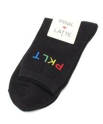 PINK-latte/レインボーロゴソックス/500061530