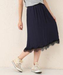 Avan Lily/裾レースサテンギャザースカート/500044281