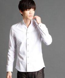 NICOLE CLUB FOR MEN/ドビーイタリアンカラーシャツ/500033127