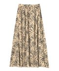 PROPORTION BODY DRESSING/《BLANCHIC》フラワーレオパードスカート/500070347
