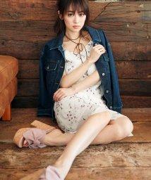 MIIA/カラー刺繍Iラインキャミワンピース/500073356