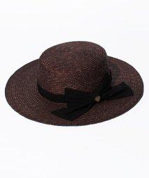 MIIA/チャーム付BIGリボンカンカン帽/500073359