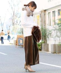 and Me.../ワイドパンツ レディース ベロア スカーチョ スカンツ ロングパンツ ボトムス ゴム/500073662