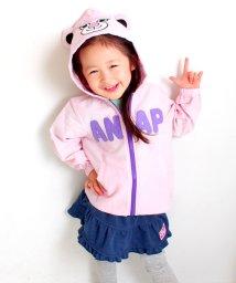 ANAP KIDS/ストライプキャラパーカー/500064936