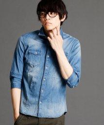 NICOLE CLUB FOR MEN/切り替えデニムシャツ/500081102