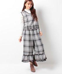 axes femme/裾刺繍コンビネゾン/500071501