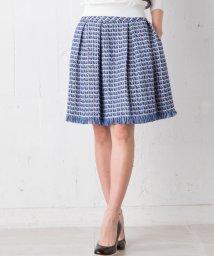 LANVIN en Bleu/【セットアップ対応商品】ツイードスカート/LB0003452