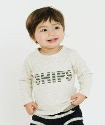 SHIPS KIDS/SHIPS KIDS:インセクトシールド【虫よけ】 長袖ロゴTEE(80~90cm)/500088943