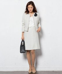 NIJYUSANKU/ライトシャインツィード スカート/500092275