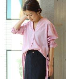 IENA/サイドスリットリボンシャツ/500092904