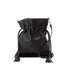NATURAL BEAUTY BASIC/スウェードフリンジ巾着バッグ/500072443