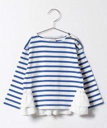 petit main/ボーダー後ろ裾フリル(長袖)/500088780