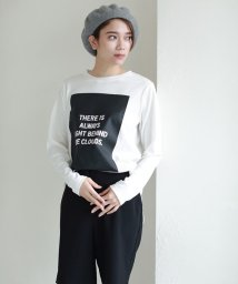 AZUL by moussy/LIGHT/CLOUDSボックスロゴロンT/500086363