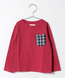 JEANS‐b2nd/check pocketロングTシャツ/500087765