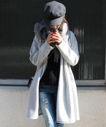 and Me.../コーディガン レディース 裏起毛 起毛 フード ロ  ング丈 ロング アウター 厚手 ヒザ/500103204