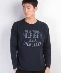 TOMMY HILFIGER MENS/ロゴプリントロングTシャツ/500095489