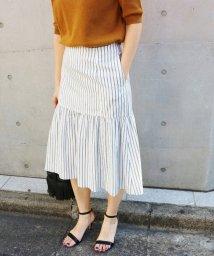 IENA/デザインスカート ストライプ◆/500111417