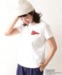 coen/(SNOOPY/スヌーピー)USAコットンペナントプリントTシャツ/500112325