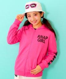 ANAP GiRL/袖ロゴZIPパーカー/500099176