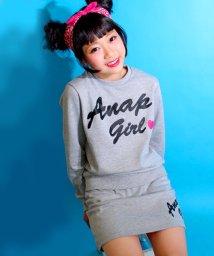 ANAP GiRL/ロゴトレーナー&スカート SET/500099179