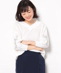 Juze/2WAY袖刺繍ニットプルオーバー/500113157