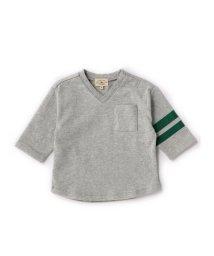 green label relaxing (Kids)/【BABY】Vネック ビッグ Tシャツ 7L/500115439