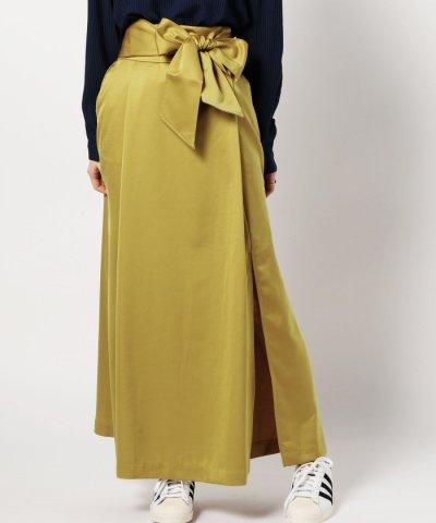 (B.B)ウエストリボンスリットスカート