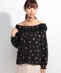 axes femme/バラ総刺繍入りオフショルBL/500112204
