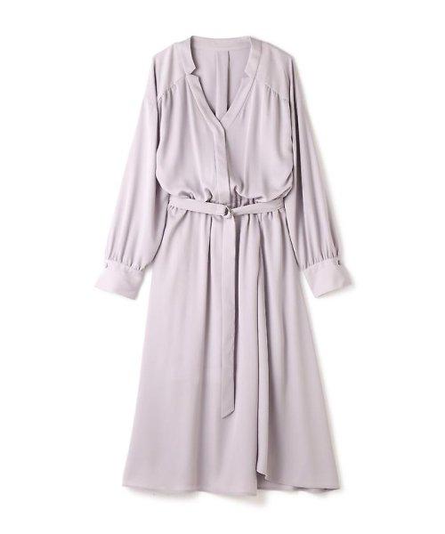 PROPORTION BODY DRESSING(プロポーション ボディドレッシング)/《BLANCHIC》 ノッチネックジョーゼットワンピース/1217149202