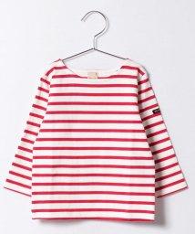 petit main/ロゴワッペンつきボーダーTシャツ/500122111