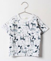 b-ROOM/動物総柄Tシャツ/500122154