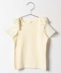 b-ROOM/シアーチェック袖切り替えTシャツ/500122156