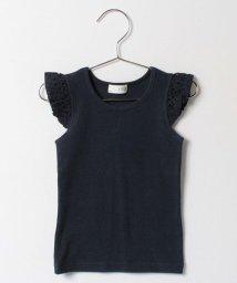 b-ROOM/袖レース切り替えTシャツ/500122157
