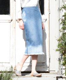 coen/CONE DENIMロングタイトスカート/500124300