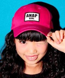 ANAP GiRL/ロゴワッペンカーブキャップ/500129694