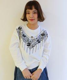 Ray Cassin /ビーズ付きスカーフ刺繍プルオーバー/500121869