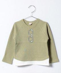 petit main/メガネアップリケ8分袖Tシャツ/500122109