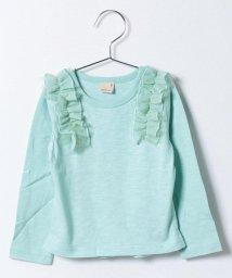 petit main/肩フリルつきTシャツ/500122141