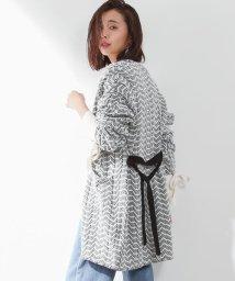 ROPE' mademoiselle/ジャガードハーフタケカーディガン/500126467